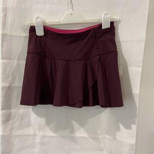 Lululemon Maroon Tennis Skirt